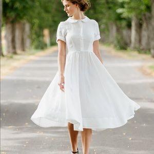 Son de Flor Classic Dress White